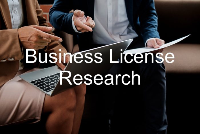 Business License Research